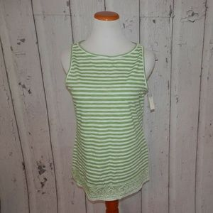 NEW Talbots Medium Striped Tank Top Cotton Shirt